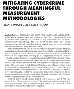 Mitigating CybercrimeThrough Meaningful Measurement Methodologies cover image