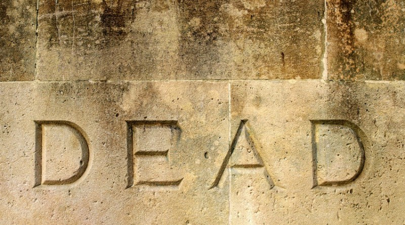 image of 'dead' inscription