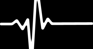 white pulse rate against black background
