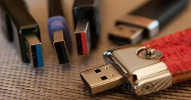collection of USB thumb drives