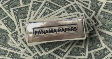 money with panama papers letterbox on top