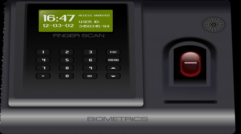 photo of a fingerprint scanner and keypad