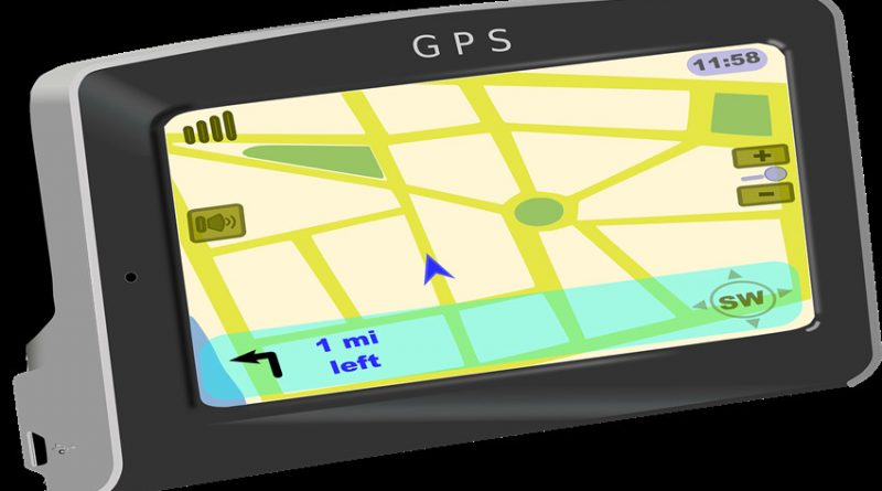 Image of a satnav device showing mapping