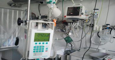 Photo of medical equipment in hospital ward setting