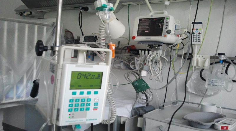 Photo of medical equipment in hospital ward setting
