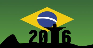 2016 imposed upon f;lag of Brazil