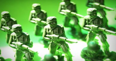 Photo of a group of toy soldiers