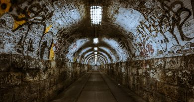 Photo of an abandoned tunnel