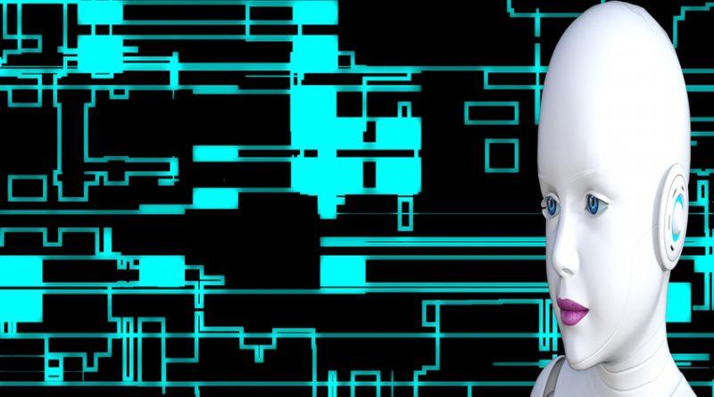 image of a feminine-looking robot head