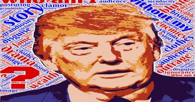 Donald Trump poster with the word DOPE on it