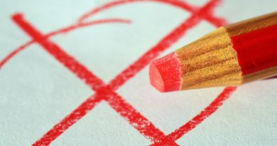 Pencil marking a cross on a ballot paper
