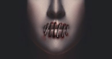 image of face with lips sewn shut