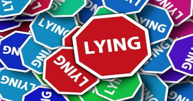 Road signs all saying 'lying'
