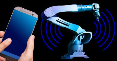 mobile phone and robot arm