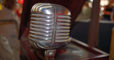 Photo of an old microphone