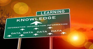 roadsign showing the route to learning via knowledge