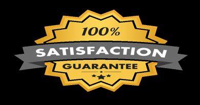 100% satisfaction certificate stamp