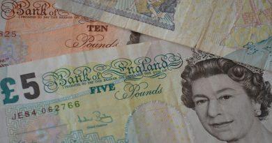 Photo of British banknotes