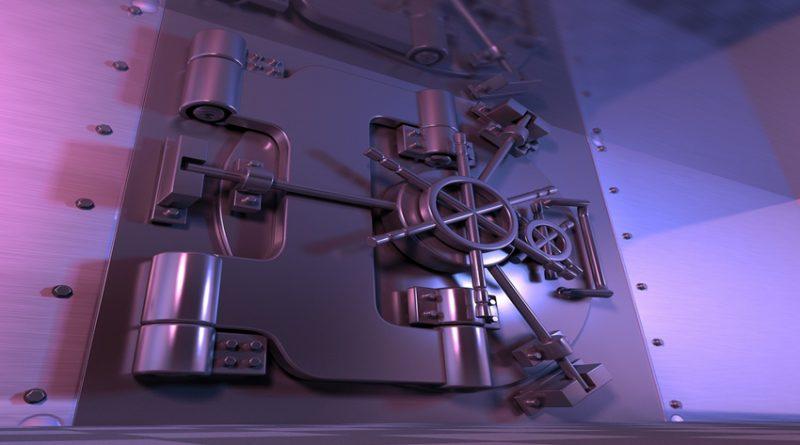 Photo of a bank vault