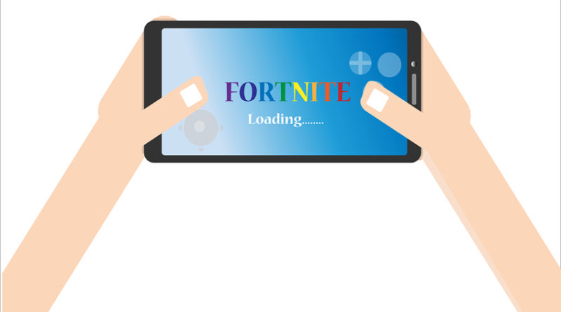 Illustration of Fortnite game loading in an app