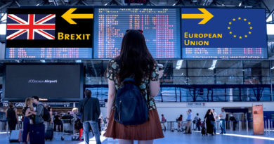 flight departure boards showing brexit and eu