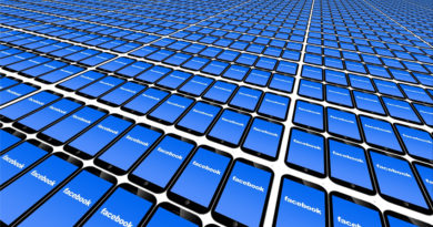 multiple smartphones showing Facebook screen