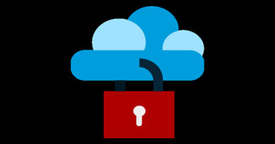 a cloud with a padlock