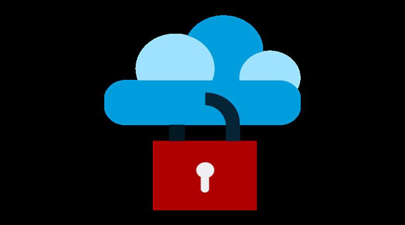 a cloud with a padlock